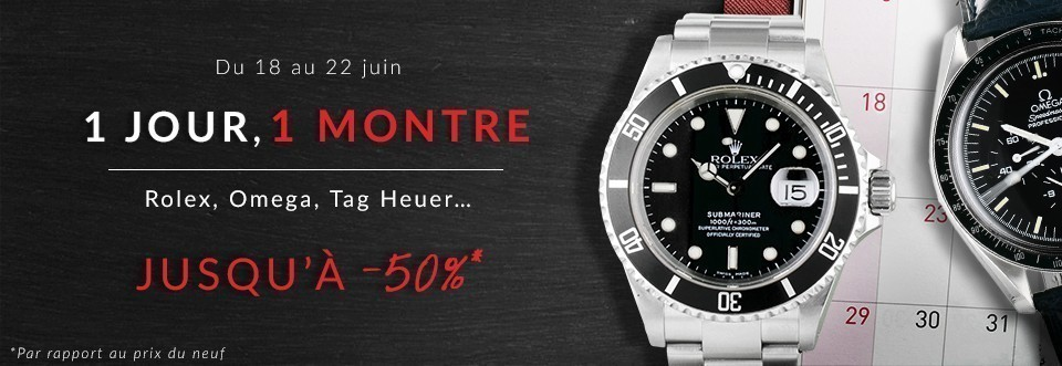67f23e3c0a Un jour une montre - Montres de luxe et bijoux d'occasion Cresus