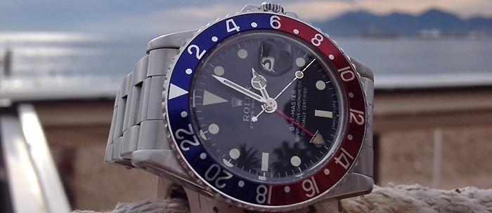 Rolex GMT Master bleu et rouge cresus